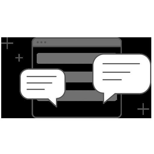 Una aplicación con varios comentarios simulando social media